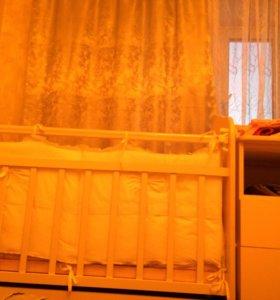 Детская кроватка-трансформер Bambu Алиса