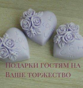 Мыло ручной работы- подарки гостям на свадьбу