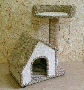 Домик для кошки (кота, котенка) с когтеточкой