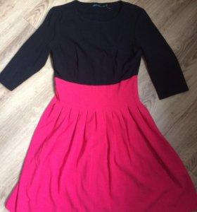 Платье новое черно-розовое