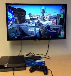 Sony PlayStation 4 500г +4 игры