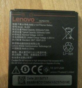Батарея леново