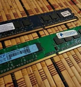 Оперативная память 2х512mb DDR-2 / торг