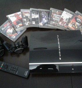 Playstation 3 + комплект из 9 игр