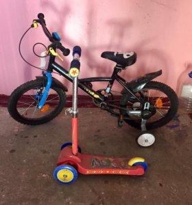 Велосипед, самокат, машинка