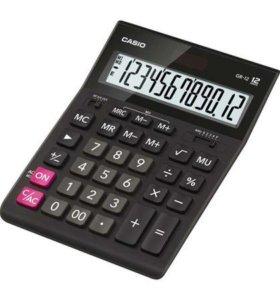 НОВЫЙ Калькулятор настольный Casio черный