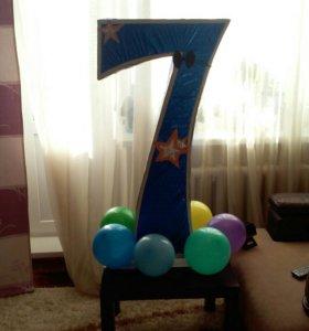 """Объемная цифра """"7"""""""