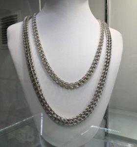 Цепи серебро 925