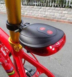 Велофонарь (новый) с лазерными габаритами