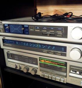 Комплект винтажной HI-FI аудиосистемы JVC, 70-80ые
