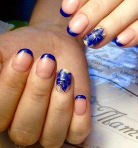 Маникюр, выравнивание ногтевой пластины, гель лак