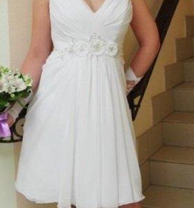 Размер: 46-48 (L) Красивое свадебное платье.