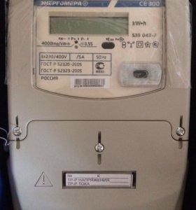 Счётчик электроэнергии 3 фазный (вкл. через ТТ)