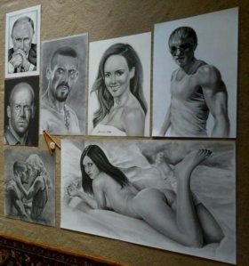 Портреты по фотографии.