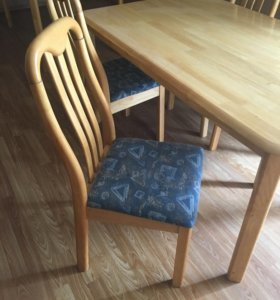 Стол обеденный с 4 стульями