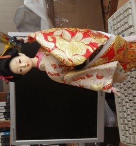 кукла коллекционная гейша 42см