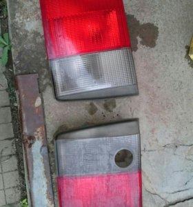Задние фонари и вставка