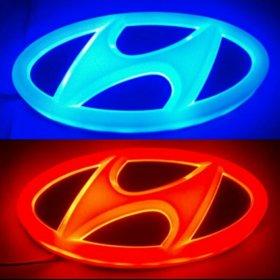 Эмблема светодиодная на Hyundai