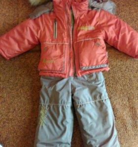 Детский зимний костюм р.80(+6)