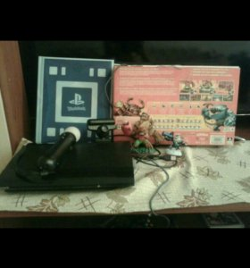 PS3 500gb + Ps move + Игры