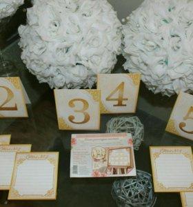 Рассадка гостей на свадьбе, списки и номерки