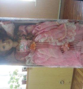 кукла коллекционная барышня злата 58см