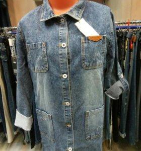 Кардиган женский джинсовый, размеры 2XL- 6XL