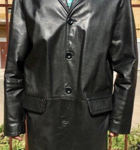 Плащ Pearlwood кожаный мужской XXL (52 - 54) Натур