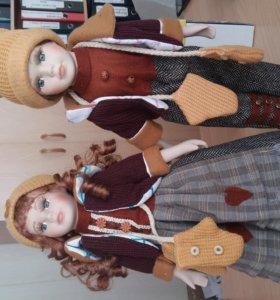куклы коллекционные парочка с варежками