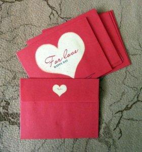 Декоративные мини-конверты 10 шт