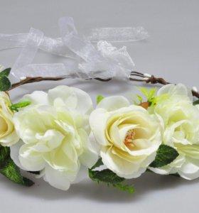 Ободок-венок с цветами