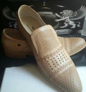 Туфли р45-46 новые кожаные