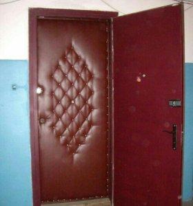 Обшивка двери дермантином