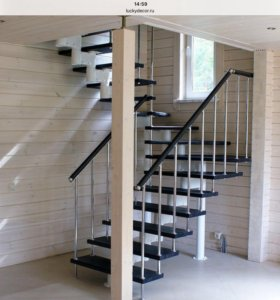 Лестницы модульные и деревянные.