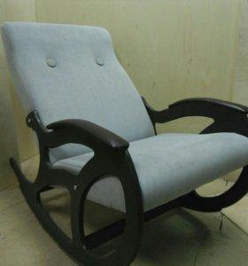 Кресло качалка Релакс, серый велюр