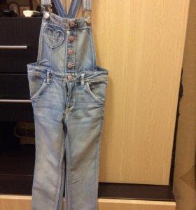 Комбенизон джинсовый, детский(девочка)