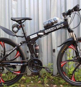 Велосипед гринбайк, на дисках складной
