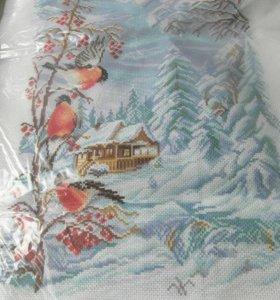 Наборы для вышивания, канва
