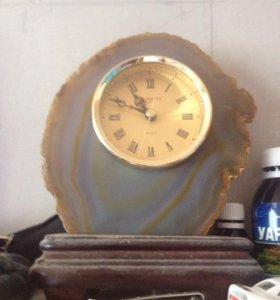 Настенные Часы из камня Агат