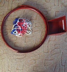 Мяч, баскетбольное кольцо, сетка