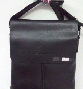 Новая мужская кожанная сумка