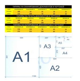 Сканирование и печать А0, А1, А2, А3,А4 в Лобне