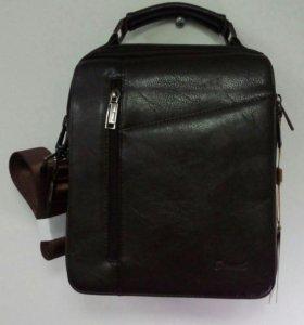 Новая мужская кожанная сумка.