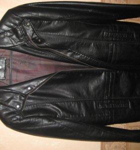 Куртка кож. черная