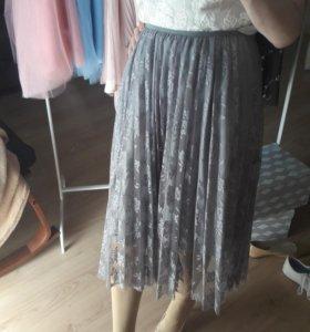 Плиссированная юбка, плиссе в наличии