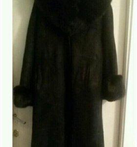 Дубленка зимняя женская,натуральный мех.