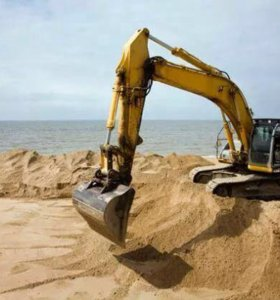 Доставка песка речного,карьерного.