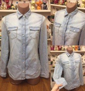 Рубашка TOPSHOP джинсовая