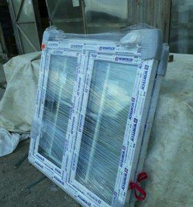 Пластиковые окна, стеклопакеты новые 1160*1160