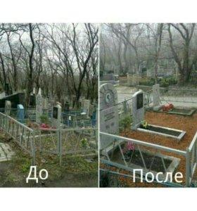 Благоустройство могил в п.Ува